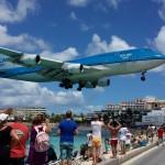 KLM Jumbo Jet Landing over Maho Beach