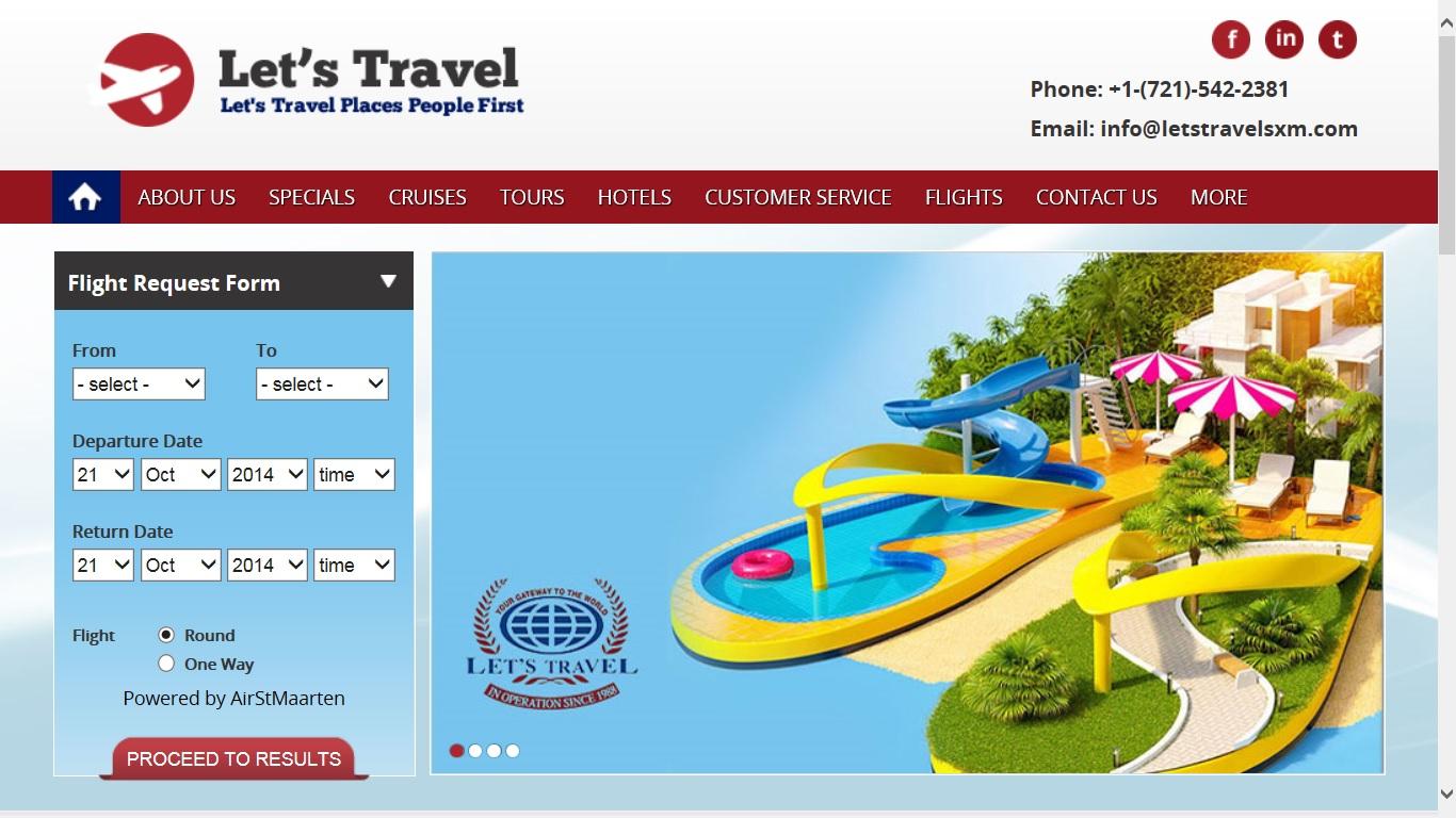 Let's Travel new website