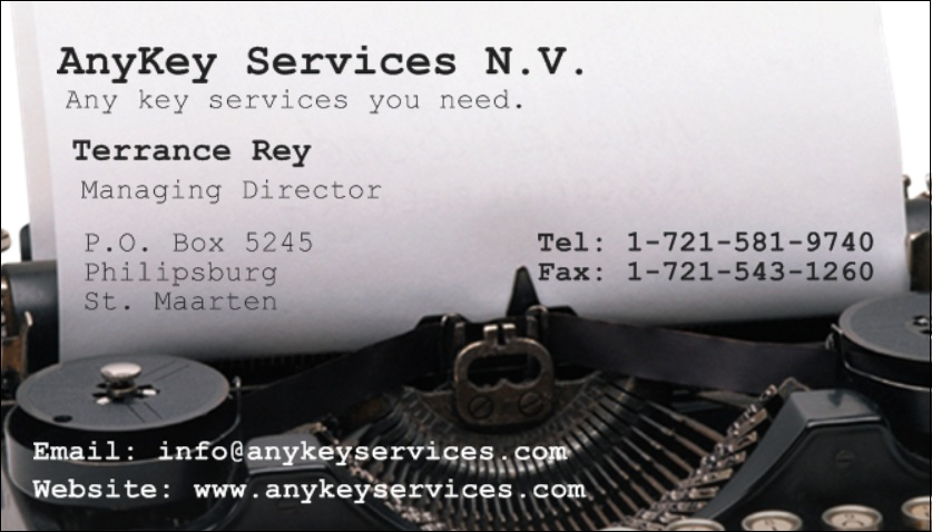 Anykey Business Card