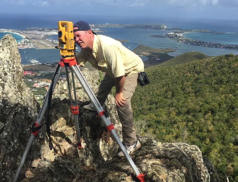 John Dalton at work - photo sky trac