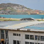 SXM Airport roof repair